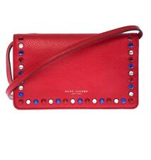 MARC JACOBS 'P.Y.T.' Brilliant Red Wallet Crossbody Bag M0008268 NWT $325