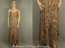 BCBG MAX AZRIA Paisley Organza Chiffon Silk Maxi Long Strappy Gown Party Dress 6