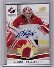 SHANNON SZABADOS 14/15 Upper Deck Team Canada Juniors Auto Autograph Patch SP