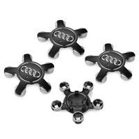 Schwarz 4 x 135mm Alufelgen Felgendeckel Nabenkappen Black Wheel Cap für AUDI