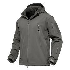 Waterproof Tactical Soft Shell Mens Jacket Coat Army Military Jacket Windbreaker Grey 4xl