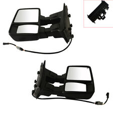 For 08-15 Ford F250 F350 F450 F550 Super Duty View Mirrors W/ Amber Turn Signal