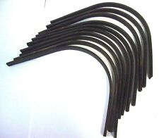 "Lot of 10 Rake Tines 13"" x 13"" 7/16"" Landscape Rock Rake Tines Bolt Hole Tractor"