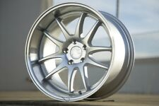 18x10.5 AodHan DS02 5x114.3 +15 Silver w/Machined Face Wheel (1)