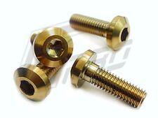 Brake Disc Rotor Bolt Screw Hex M8x1.25x25 Titanium 6AL4V Gold YAMAHA Forged x3
