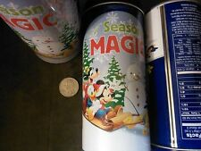 4 Mickey Mouse tin canisters, blue