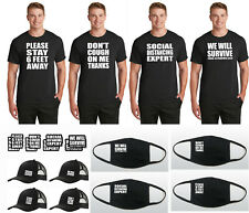 T-Shirt Face Cover Corona Pandemic 2020 Social Distancing Cool Hat or Sticker