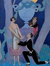 George Barbier  L'AVARICE  Les 7 péchés capitaux Pochoir édition originale 1925