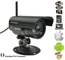 Caméra IP Extérieur Réseau WIFI Compatible IPHONE ANDROID BOX ADSL Noir