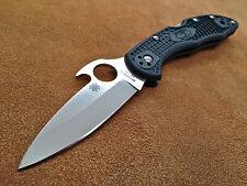 Spyderco Waved Delica 4 C11PGYW Saber Ground FRN Plain Edge Knife  * VG-10 Steel