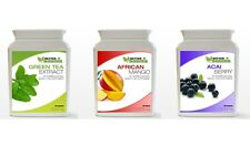 60 Acai Berry 60 Green Tea 60 African Mango Diet Weight Loss Capsules Bottles