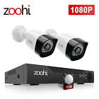 Zoohi Security Camera System Outdoor 1080p 4CH DVR 1TB Hard Drive Night Version