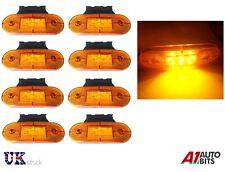 8X 24V 9 SMD LED SIDE MARKER ORANGE LIGHTS LAMPS & BRACKETS TRAILER TRUCK LORRY