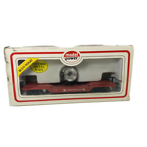 Vintage HO Model Power Safety Search Light Depressed Flat Car -Untested