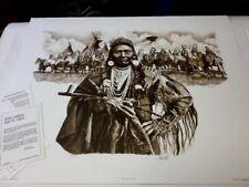 Paul Calle CHIEF JOSEPH--Man of Peace (Sepiatone)  S# Ed 950 NIF 1980 MPP (RARE)