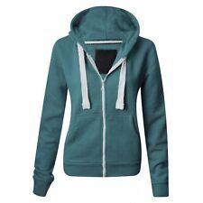 Ladies Girl NEW PLUS SIZE Zip Up Sweatshirt Hooded Hoodie Coat Jacket Top 6-22