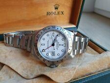 Rolex EXPLORER II Data Quadrante Bianco Polare 16570 in Scatola