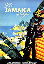 ART PRINT POSTER TRAVEL LOUCH JAMAICA TRANS CANADA AIR LINES MUSIC NOFL1115