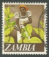 Zambia Scott# 44, Woman Tobacco Picker, Used, 1968