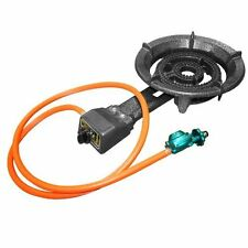 Propane Burner with Hose and Regulator Durable Cast Iron Metal Construction