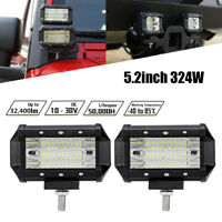 1Pc  5.2 inch 324W LED Work Light Bar Flood Beam OffRoad Driving Reverse  IP68