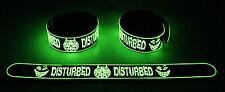 Disturbed NEW! Glow in the Dark Rubber Bracelet Wristband Stricken gg169