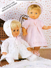 """BABY DOLLS CLOTHES 12-22"""" KNITTING PATTERN Double Knit"""