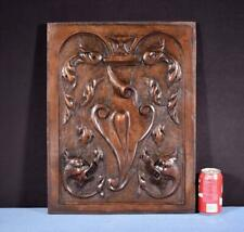 *French Antique Deep Carved Panel Door Solid Walnut Wood with Griffins