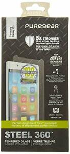 PureGear Samsung Galaxy S9+ Plus, Steel 360 Tempered Glass Protector w/Easy