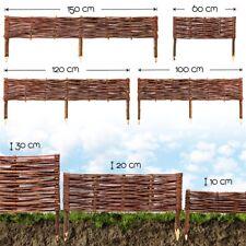 Beeteinfassung Weide Weidenzaun Rasenkante Beet Begrenzung Steck Zaun Palisaden