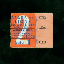 1964 (Oct. 18) Chicago Bears ticket stub v. Detroit Lions (Good condition)