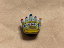 Genuine Jibbitz Blue Crown Crocs Shoe Charm Accessories 06-07 NWOT