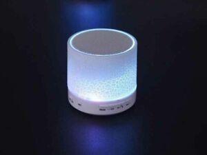 Tragbarer mini Bluetooth Lautsprecher, Radio Licht Freisprechen Reekin weiß