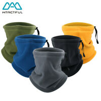 1/2PCS Winter Fleece Neck Gaiter Warm Tube Scarf Face Mask Balaclava Bandana Ski