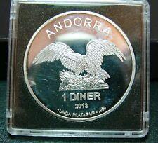 Andorra Eagle Silber 1 Diner 2013 PP  PP in Kapsel