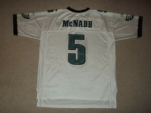 Donovan McNabb Philadelphia Eagles Reebok White XL Jersey Autograph Celek Avant