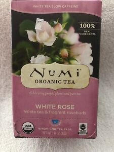Numi Tea White Rose Tea - 16 bag  Box Is Damaged But All 16 Are Sealed