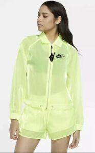 Nike Air Sheen Women's Translucent Jacket CU5544-702 Green NWT