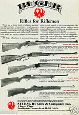 1980 Print Ad of Sturm Ruger Models 77 Number One Number 3 Mini-14 & 44 Rifle