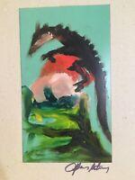Très Belle peinture Huile Expressionnisme sur Carton 1960 Signature a identifier