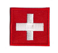 Ecusson patche thermocollant Suisse Switzerland petit patch 35x35 mm