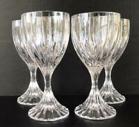 "Mikasa Park Lane Crystal Wine Glasses 6 1/4"" Set Of 4"