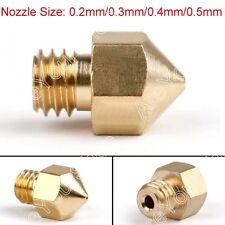 10Pièce 0.4mm Nozzle Print Head Pour 3D Imprimante Extruder MK8 Makerbot 1.75mm