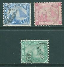 EGYPT 1879 used trio with INVERTED watermarks