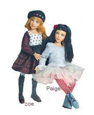 2 Helen Kish Dolls Zoe Mulberry Plaid+Paige SilverLace Resin BJD LE NEW MIB NRFB