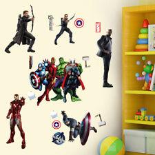 67 pcs Super Hero Avengers Wall Sticker Decal Boys Bedroom Decor Art IronmanHulk