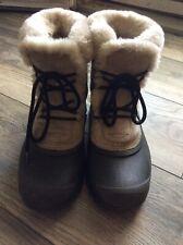 Women's SOREL Winter Boots Snow Faux Fur Trim Size 7