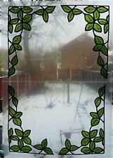 Set de 4 coin de feuille vitrail fenêtre d'effet accrochée