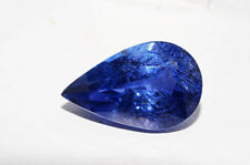 $24,500 6.94Ct Lapis Gem Certified Natural No Heat Pear Shape Blue Sapphire
