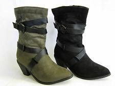 Block Spot On Textile Upper Boots for Women